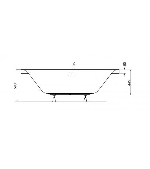 GENOVA Bathtub 2 dimensions with apron
