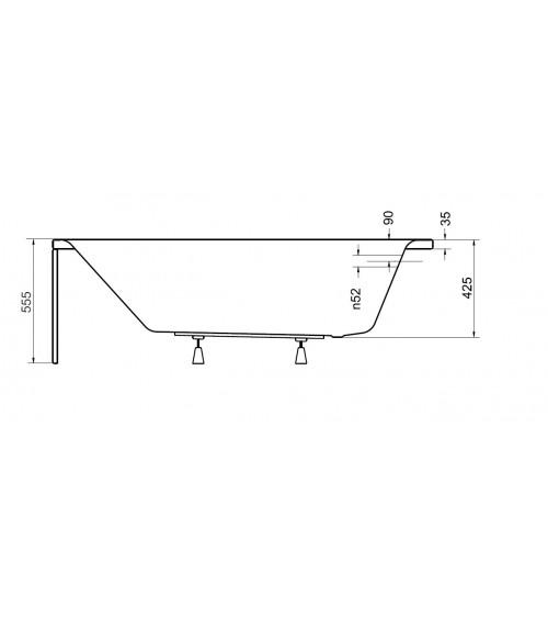 Baignoire VENETO avec tablier 140/150 x 70 et 160/170 x 70