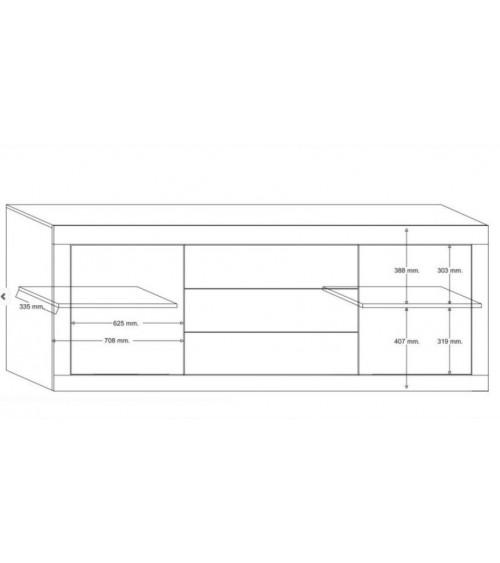 Buffet BASIC 210cm BLANC