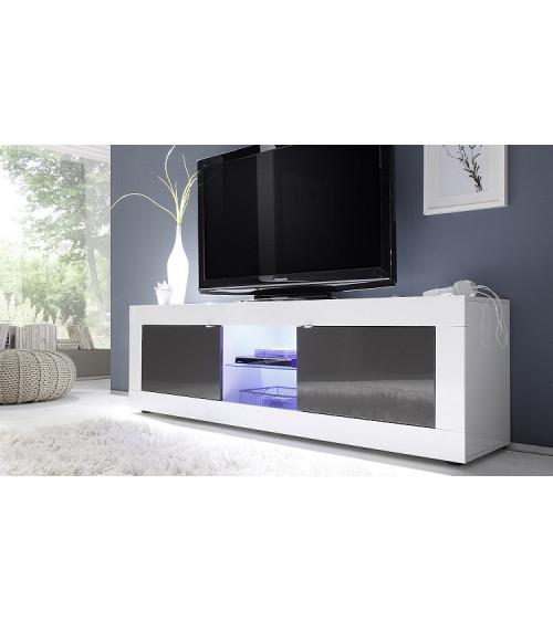 BASIC TV Storage 181cm, white / grey