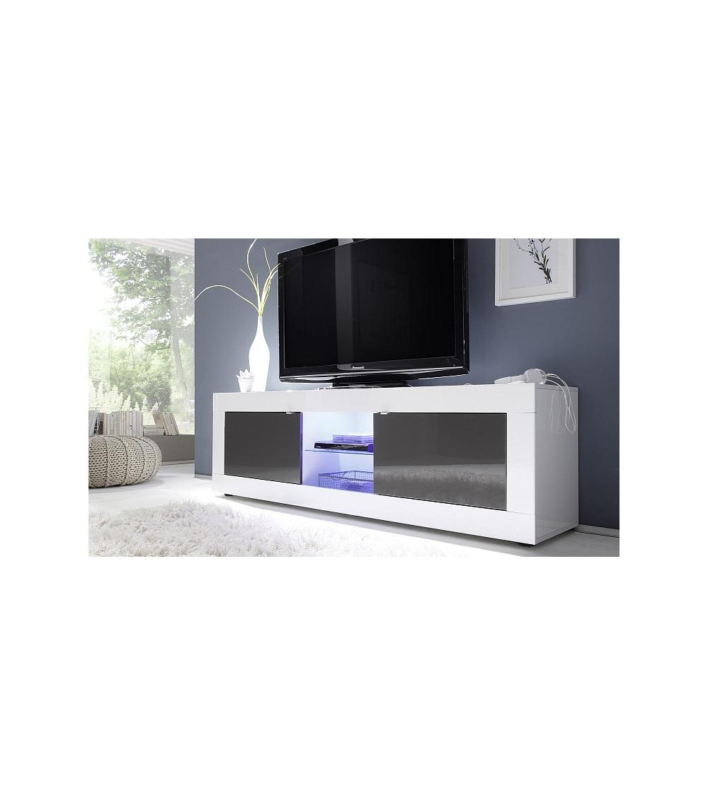 basic tv lowboard 181cm wei anthrazit azura home design. Black Bedroom Furniture Sets. Home Design Ideas
