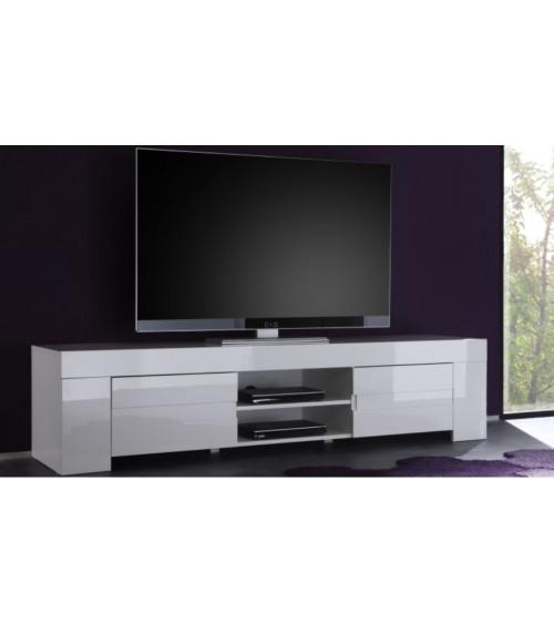 Meuble TV ZEOS , 190 cm , blanc