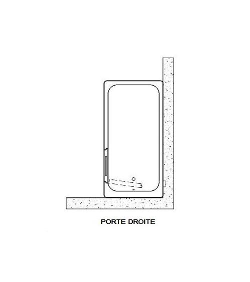 Baignoire à porte îlot AMELIE 160x75x70 cm