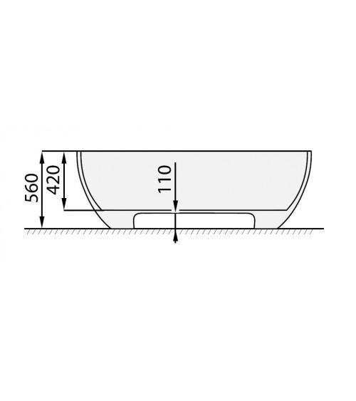 ANALIPSI II freestanding tub