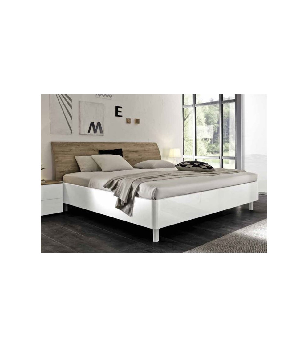 lit adulte roma blanc 160cm. Black Bedroom Furniture Sets. Home Design Ideas