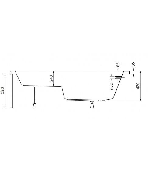 Baignoire sabot VANIA 120 X 70 cm