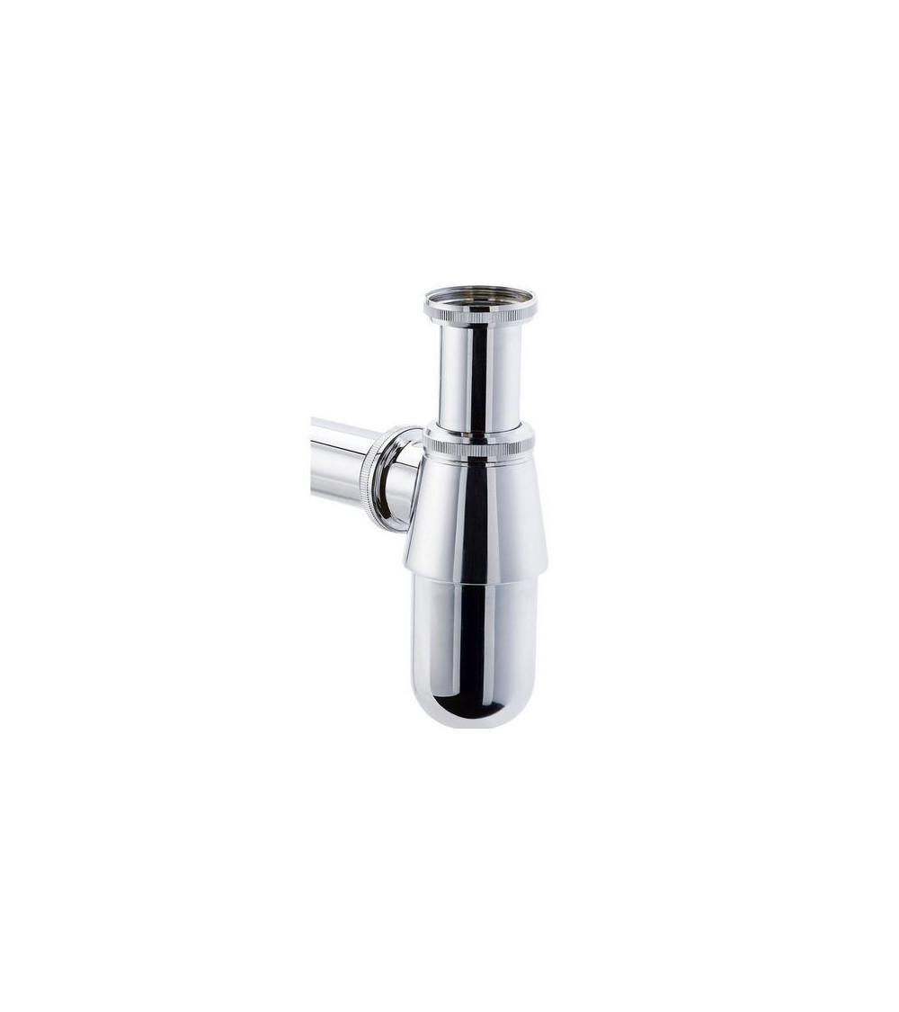 Siphon de lavabo en laiton chromé