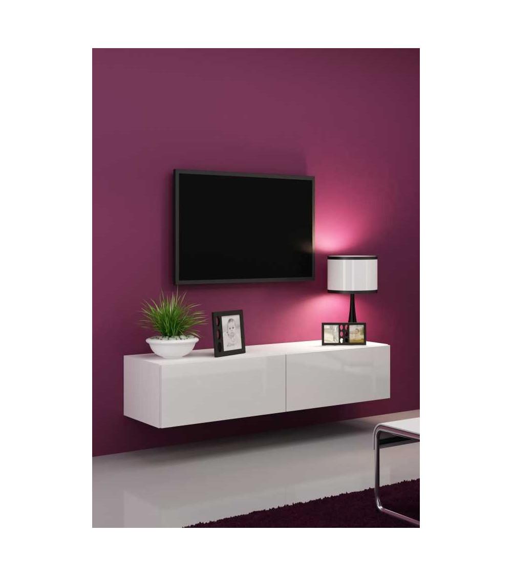 meuble-tv-vigo-140-noir-ou-blanc - séjour-meuble tv