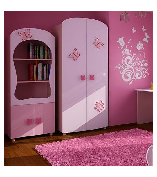 Armoire 2 portes LILLY ROSE