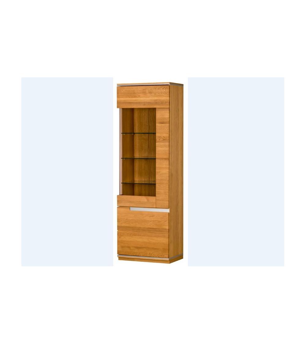 Vitrina 2 puertas TORINO roble 65 x 204 x 42 cm