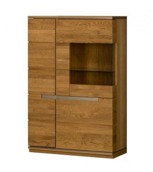 TORINO 3 doors semiglazed small cupboard