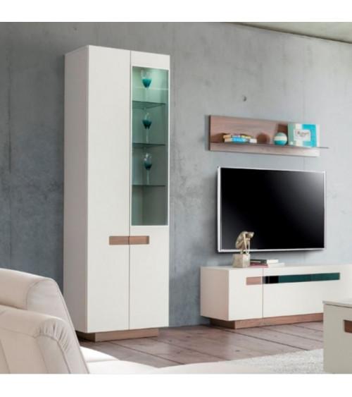 KASHMIR 2 doors semiglazed cupboard