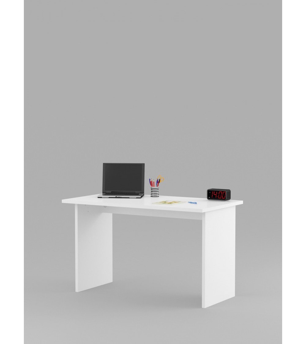 bureau enfant blanc 125 cm azura home design. Black Bedroom Furniture Sets. Home Design Ideas