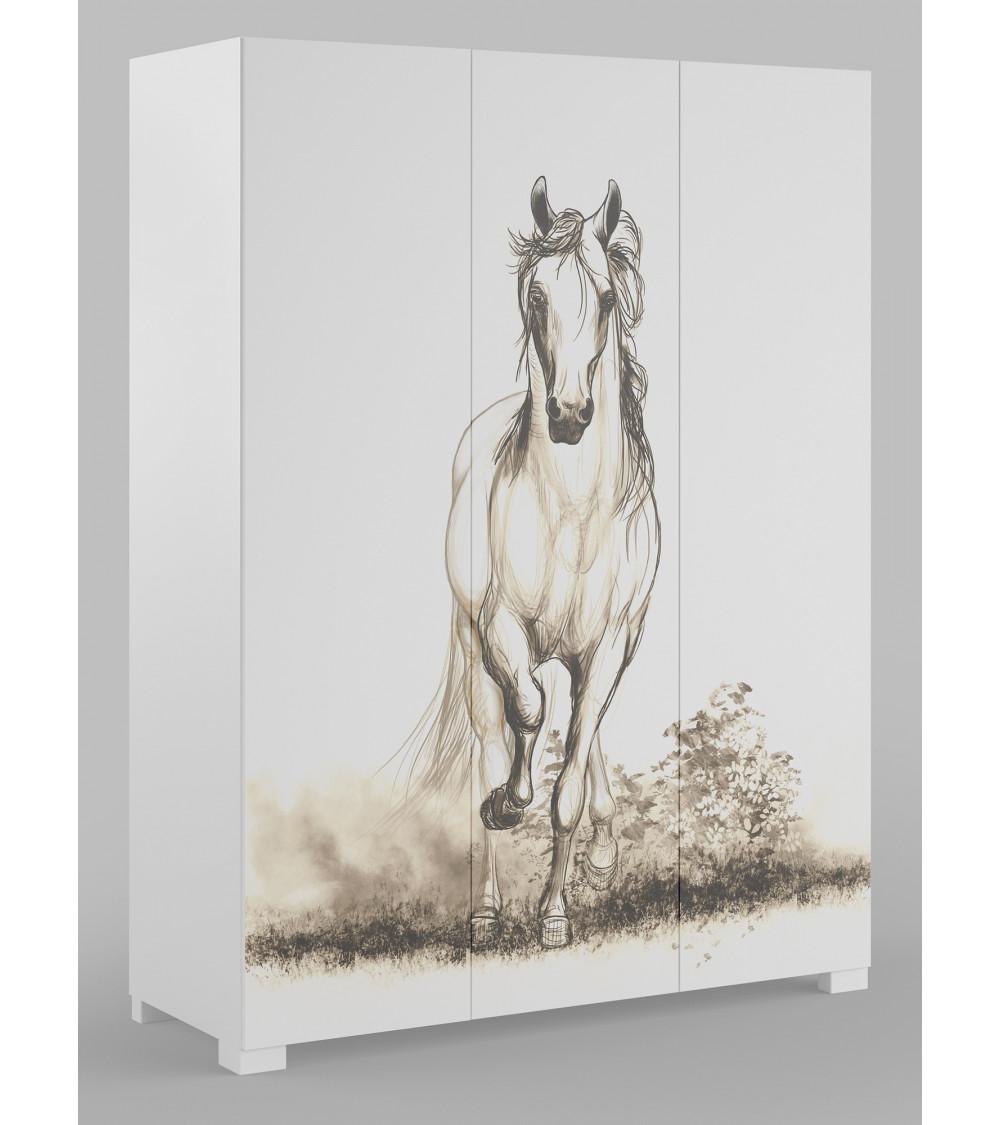 WHITE HORSE Wardrobe,150cm