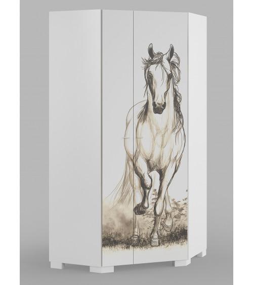 WHITE HORSE Corner Wardrobe