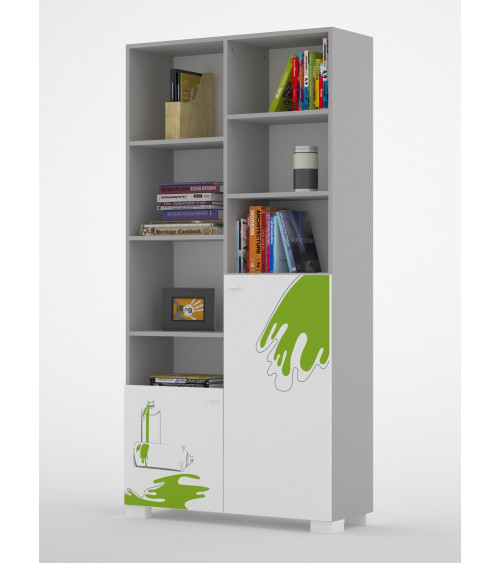 GRAFFITI ART Bookcase, 100 cm