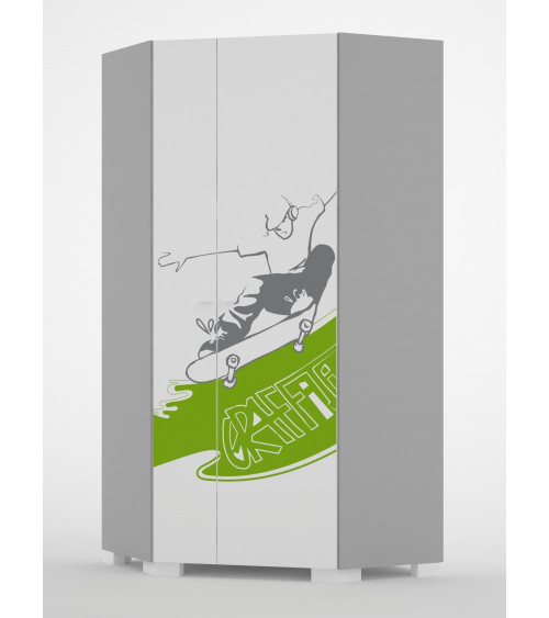 GRAFFITI ART Corner Wardrobe