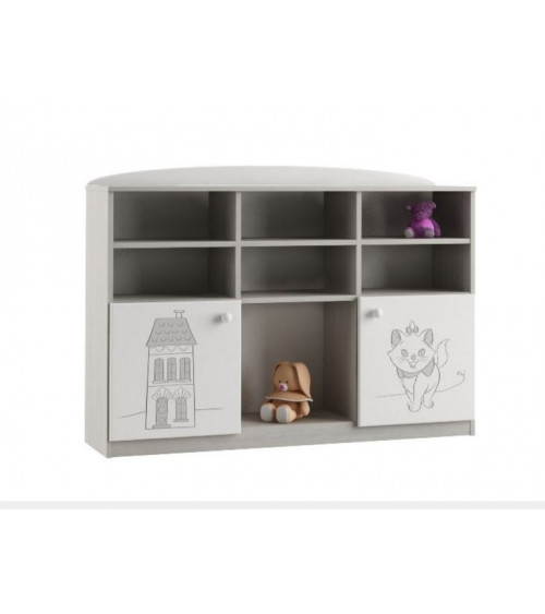 Low Bookcase MARIE 135cm
