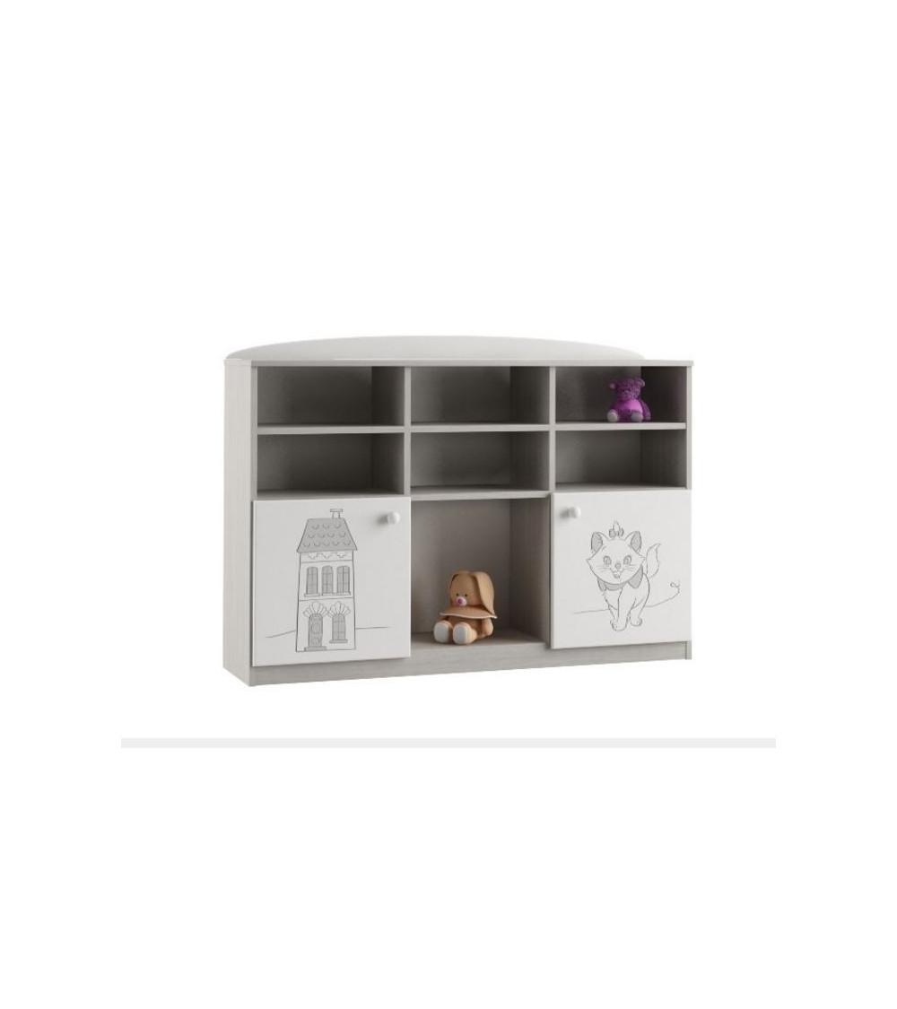 Low Bookcase MARIE 135cm