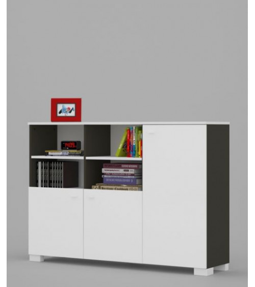 low Bookcase UNI DARK 150cm