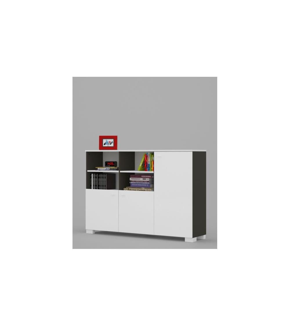 low Bookcase UNI DARK 150cm