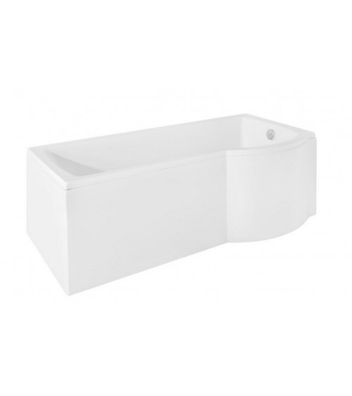 Baignoire asymétrique INSPIRO 150/160/170 cm x 70 cm avec pare baignoire