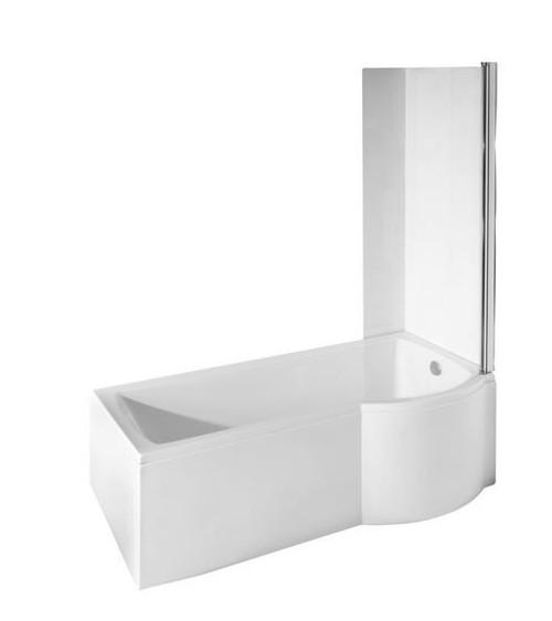 Baignoire inspiro 150 160 170 cm x 70 cm avec pare baignoire baignoire design mobilier salle - Baignoire asymetrique 150 ...