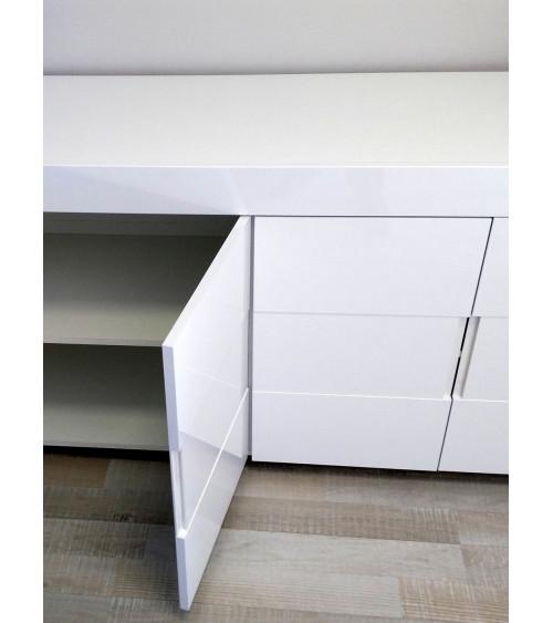 Buffet ZEOS 210 cm blanc