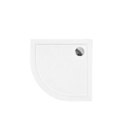 Receveur de douche BARON 1/4 rond acrylique blanc 90x90x5.5 cm