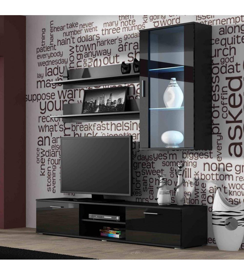 soho 2 tv wand schwarz. Black Bedroom Furniture Sets. Home Design Ideas
