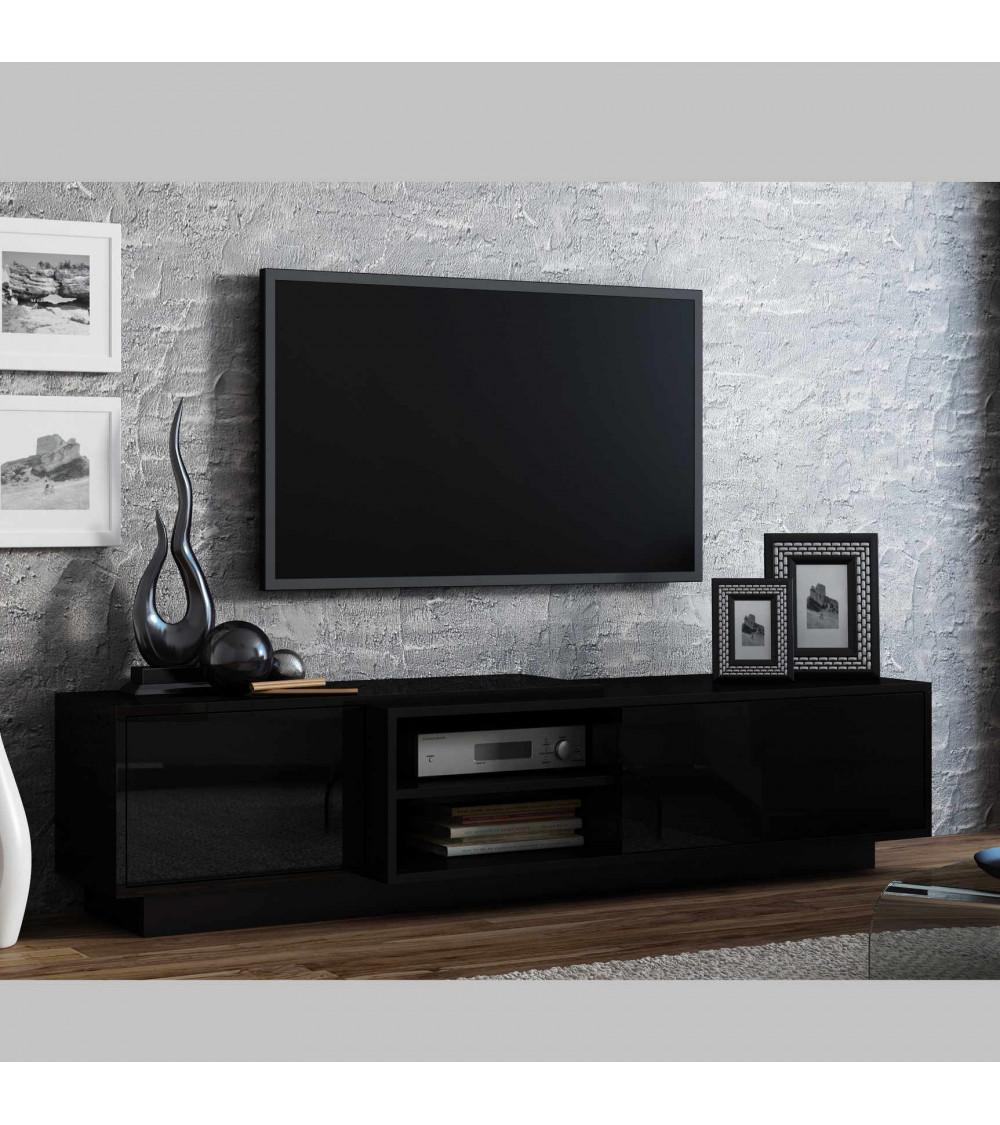 SIGMA II BLACK 180cm  TV Storage