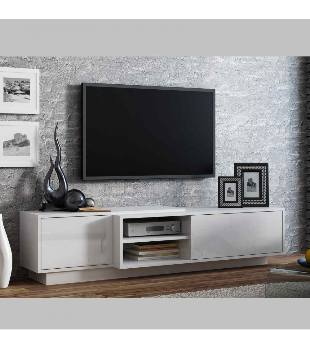 SIGMA II White 180cm  TV Storage