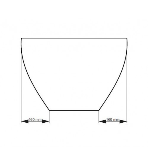 Baignoire îlot FORTUNA 160 x 70 x 63 cm