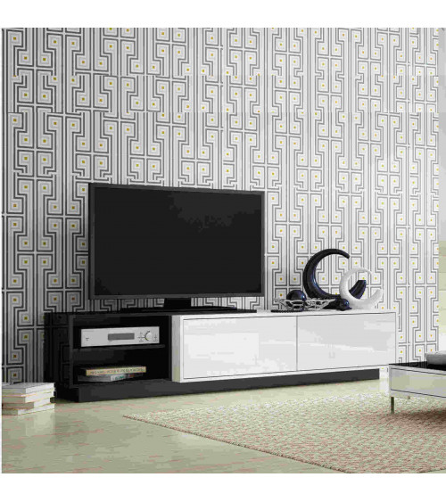 GOTHA white and black TV Storage