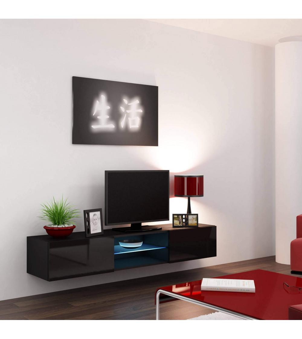 BLACK STORM 180cm TV Storage