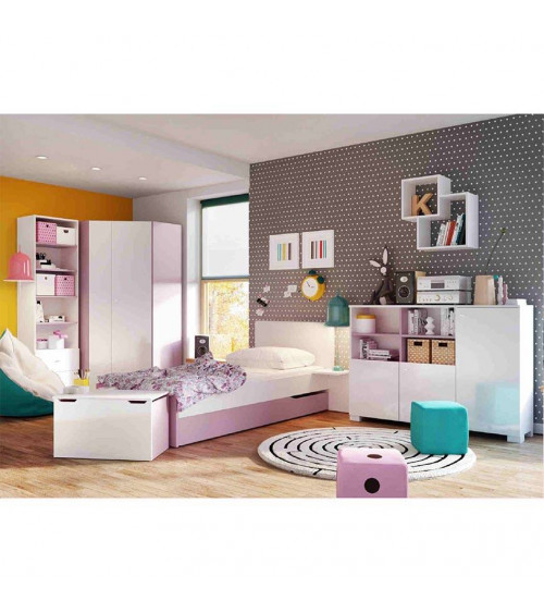 Low Bookcase GIRLY 150cm