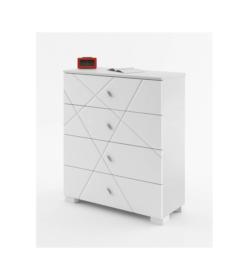 Commode X-ONE 90cm 4 tiroirs