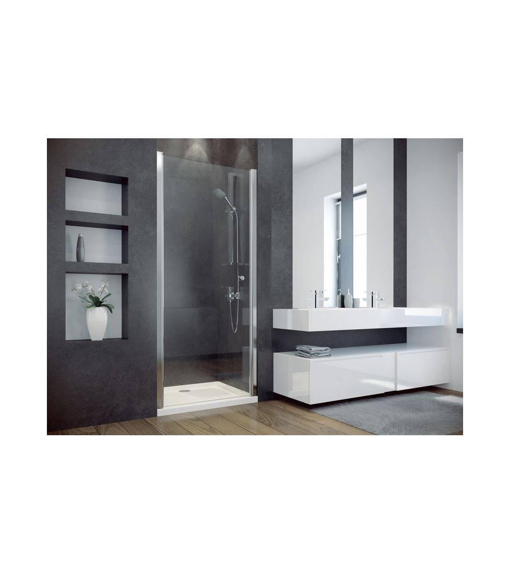 Porte de douche cirko meuble salle de bain d coration salle de bain - Porte battante douche ...