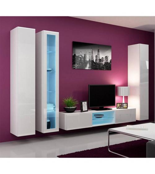 Ensemble meuble TV  VISION noir ou blanc