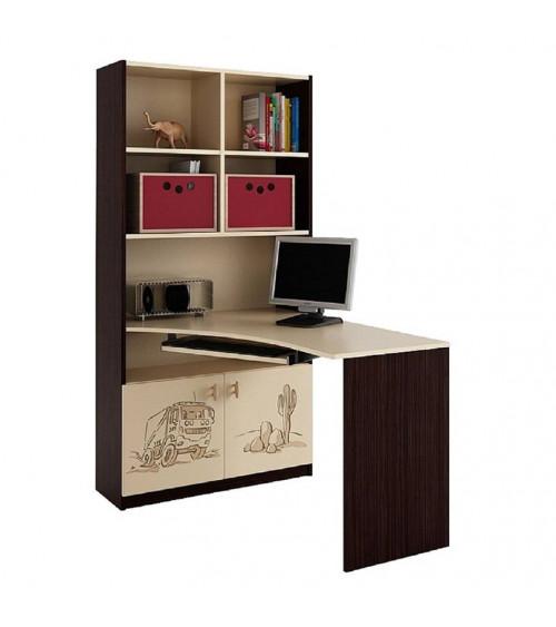 DAKAR Bookcase-desk combination