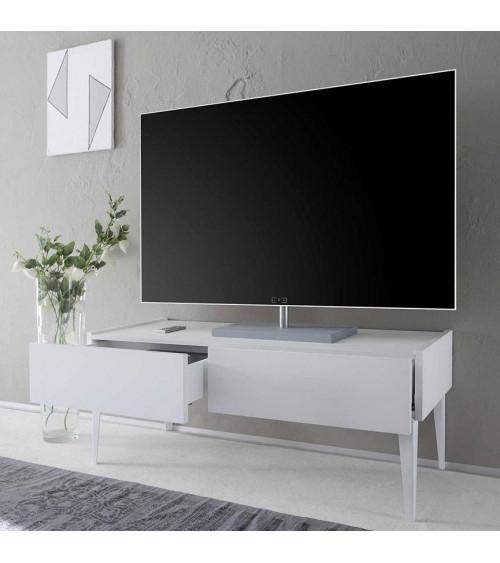 Meuble TV  REX blanc 123cm