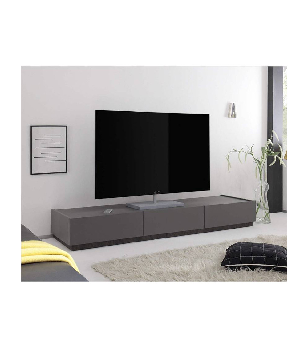 Meuble TV REX, gris anthracite