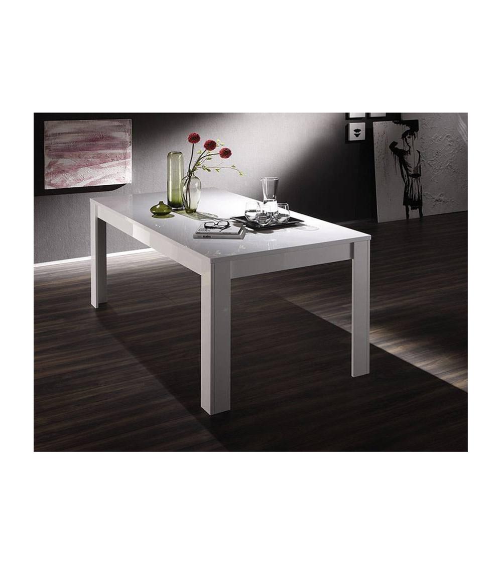 Mesa lounge BASIC, 140-90 cm, blanca