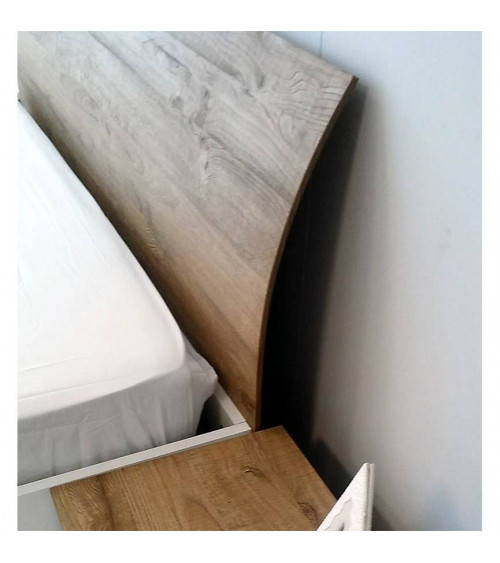 BED ROMA WHITE 160cm