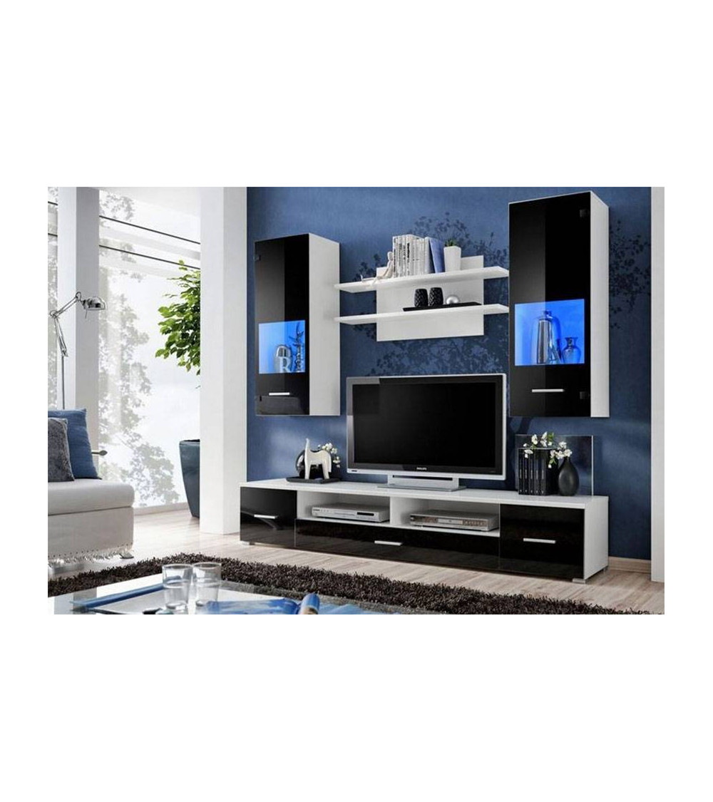 CORTE II. black TV Storage combination