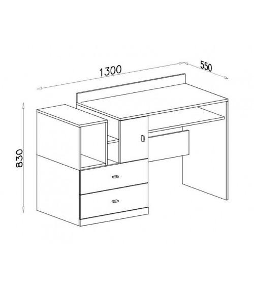 bureau mobi 130cm. Black Bedroom Furniture Sets. Home Design Ideas