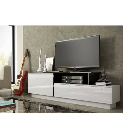 Meuble TV SIGMA 180 cm , NOIR OU BLANC