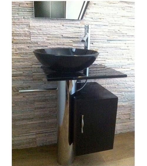 MANRESA bathroom furniture - black