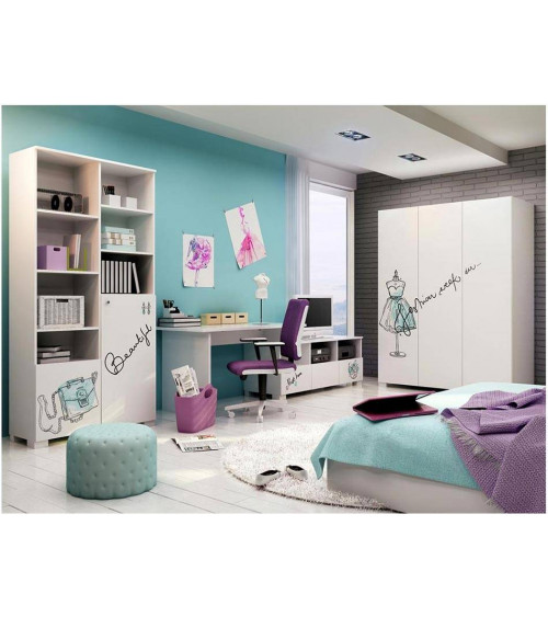 FASHION MINT Wardrobe, 150cm