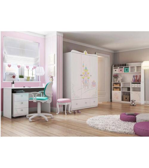 MAGIC PRINCESS Bookcase-desk Combination